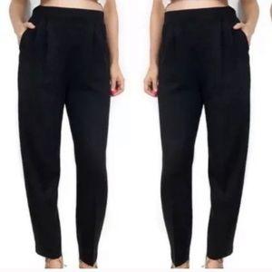 St. John Basics High Waisted Black Knit Pants Sz 6